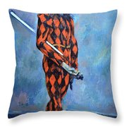 Cezanne's Harlequin Throw Pillow