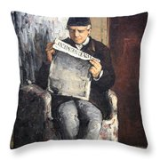 Cezanne's The Artist's Father Reading Le Evenement Throw Pillow