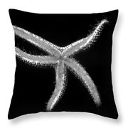 Dancing Starfish Throw Pillow