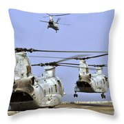 Ch-46e Sea Knight Helicopters Take Throw Pillow