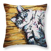 Chachi Cat Portrait Throw Pillow