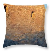 Chaco Canyon Indian Ruins, Sunset, New Throw Pillow
