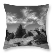 Chaco Canyon Pueblo Bonito Throw Pillow