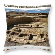 Chaco Culture National Historic Park Poster Throw Pillow
