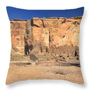 Chaco Culture Puebo Bonito Panorama Throw Pillow