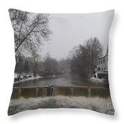 Chagrin Falls Xmas Throw Pillow