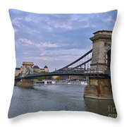 Chain Bridge Throw Pillow