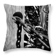 Chain Fence Throw Pillow