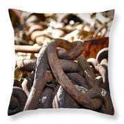 Chain Picking Throw Pillow