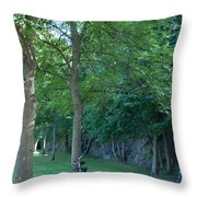 Chained To A Tree Throw Pillow