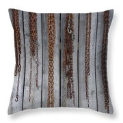 Chains On The Wall Throw Pillow