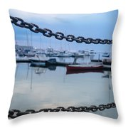 Chains Over The Water Throw Pillow