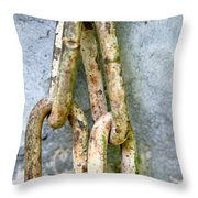 Chains Time Throw Pillow