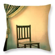 Chair And Curtain Throw Pillow