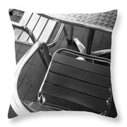 Chair And Table Throw Pillow