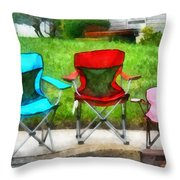 Chair Family Throw Pillow