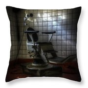 Chair Of Horror Throw Pillow