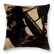 Chair Of Insanity Throw Pillow