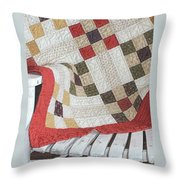 Chair Quilt               Color Pencil Throw Pillow
