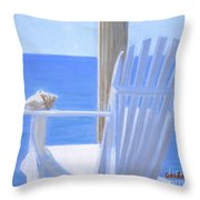 Chair View With Shell Throw Pillow