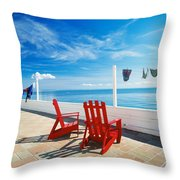 Chairs Cape Cod Ma Throw Pillow