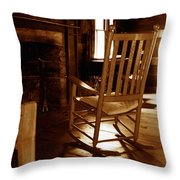 Grandfathers Place Throw Pillow