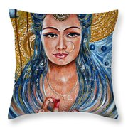 Chakra - Lotus Throw Pillow