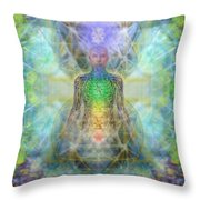 Chakra Tree Anatomy In Chalice Garden Throw Pillow