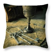 Chalice And Keys Throw Pillow