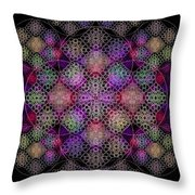 Chalice Cell Rings On Black Dk29 Throw Pillow