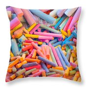 Chalk Colors Throw Pillow