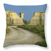 Chalk Pyramids Throw Pillow