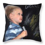 Chalk Talk - Mom Loves U Throw Pillow