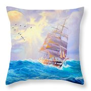 Challanging Tides Throw Pillow