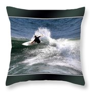 Challenge Yourself-surf Throw Pillow