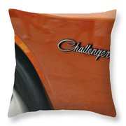 Challenger Emblem Throw Pillow