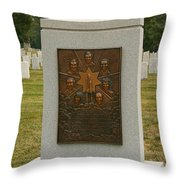 Challenger Space Shuttle Memorial Throw Pillow by Kim Hojnacki