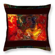 Challenges And Moments In Time Abstract Healing Art Throw Pillow