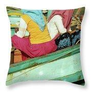 Cham Women Throw Pillow