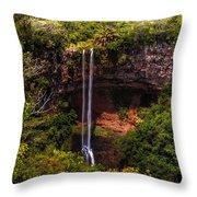 Chamarel Waterfall 1. Mauritius Throw Pillow