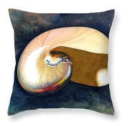 Chambered Nautilus Throw Pillow