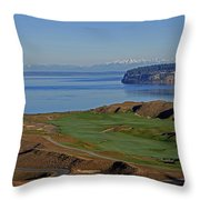 Chambers Bay Golf Course - University Place - Washington Throw Pillow