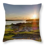 Chambers Bay Sun Flare - 2015 U.s. Open  Throw Pillow