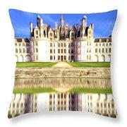 Chambord Castle Throw Pillow