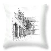Chambord Courtyard Throw Pillow