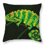 Chameleon Throw Pillow by Anastasiya Malakhova