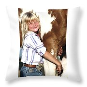 Champ And Peanut Throw Pillow