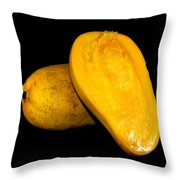 Champagne Ataulfo Mango Closeup Isolated  Throw Pillow