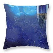 Champagne Blue  Throw Pillow by Liane Wright