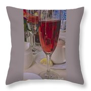 Champagne Brunch Throw Pillow